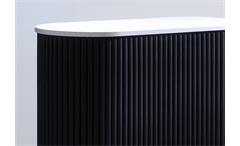Rollladenschrank Klenk Dancer Universalschrank Aktenschrank weiß und schwarz