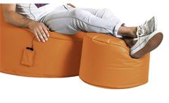 Sitzhocker Fußhocker DotCom Scuba orange Outdoor Sitting Point by MAGMA