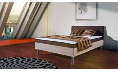 Boxbett ANTOX in Sonoma Eiche und braun Bonell-Federkern 140x200 cm