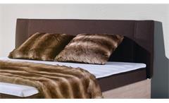 Boxbett Antox Bett in Sonoma Eiche und braun mit Bonell-Federkern 140x200 cm