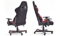 Schreibtischstuhl DX RACER 1 Bürostuhl Game Chair in schwarz und rot