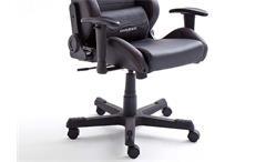 Schreibtischstuhl DX RACER 3 Bürostuhl Game Chair in Lederlook schwarz