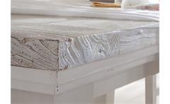 Esstisch Opus Tisch Esszimmertisch Kiefer Massiv weiß Vintage Ausziehbar 140-180