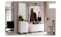 Garderobe 1 Sydney Flurmöbel Dielenmöbel in weiß Hochglanz lackiert 4-teilig