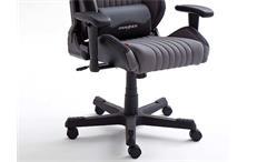 Schreibtischstuhl DX RACER 7 Bürostuhl Game Chair in Stoff grau Carbon Look