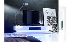 TV-Board SHELLY Weiß Hochglanz Inkl RGB-Beleuchtung