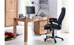 Schreibtisch Zendo Büro Computertisch Tisch Kernbuche massiv geölt 3 Schubkästen
