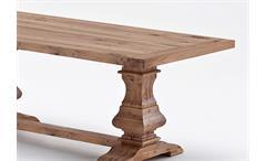 Esstisch Salerno Tisch Esszimmertisch in Akazie massiv gebürstet lackiert 200 cm