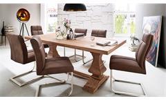 Esstisch Salerno Tisch aus massiver Akazie 200x100 cm