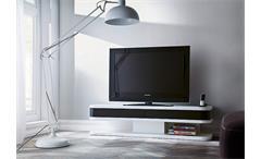 TV Board JUNIOR L in weiß und schwarz matt lackiert