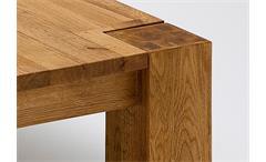 Couchtisch Allen Beistelltisch Tisch Asteiche Massivholz keilverzinkt 85x85 cm