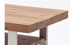 Couchtisch Castello Beistelltisch Tisch in Eiche bassano massiv lackiert 110x70