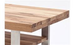 Couchtisch Castello Beistelltisch Tisch in Wildeiche massiv lackiert 110x70
