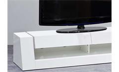 TV Board Front 1 Lowboard HiFi Media Möbel MDF weiß Hochglanz lackiert