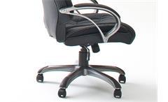 Drehstuhl Ben Chefsessel Bürostuhl schwarz und silber inkl. Gaslift bis 150 kg