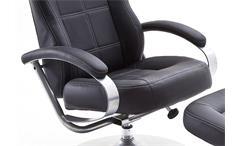 Relaxsessel Noa Relaxchair Drehstuhl Sessel in schwarz Gestell Metall verchromt