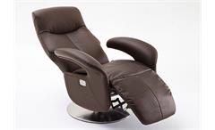 Relaxsessel Roman Relaxchair Sessel in Echtleder braun inkl. Motor 130 kg