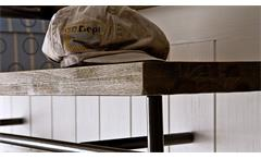 Wandpaneel 1 Gomera Garderobe Paneel in Akazie weiß teilmassiv