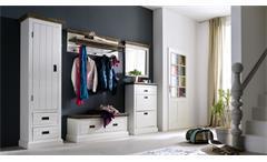 Wandspiegel GOMERA Spiegel Hängespiegel Akazie weiß massiv 80 cm