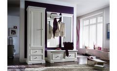 Spiegel Opus Wandspiegel Garderobenspiegel Kiefer massiv weiß Vintage 59 cm