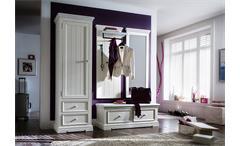 Garderobenset 3 Opus Garderobe Flurmöbel in Kiefer massiv weiß Vintage