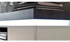 Lowboard Atlantas TV-Board Unterschrank Kommode weiß matt beton grau inkl. LED