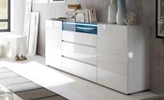 Sideboard Vicenza Kommode Anrichte Schrank in weiß Hochglanz lackiert 185 cm