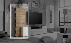Regal Vicenza Ablage Schrank für TV-Board in Eiche natur 55 cm