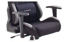Schreibtischstuhl DX RACER 5 Bürostuhl Game Chair in schwarz und grau