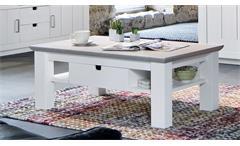 Couchtisch LA PALMA Tisch in Kiefer teilmassiv weiß taupe lackiert