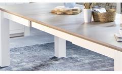 Ausziehtisch La Palma Esstisch in Kiefer teilmassiv weiß taupe Esszimmer Tisch