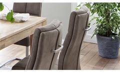 Schwingstuhl Salva 2 2er-Set Freischwinger sand Luxus Komfort Taschenfederkern