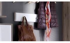 Hakenleiste Comino Paneel Kleiderhaken weiß Hochglanz San Remo Eiche Garderobe