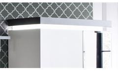 Garderobenschrank Atlanta Dielenschrank matt weiß Betonoptik mit LED Garderobe