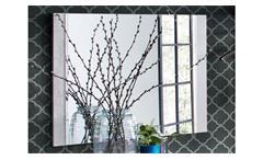 Garderobenspiegel Atlanta Wandspiegel Spiegel in matt weiß lackiert Garderobe