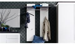 Wandpaneel ATLANTA Garderobepaneel matt weiß lackiert und Betonoptik