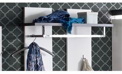 Wandpaneel Atlanta Garderobenpaneel matt weiß lackiert und Betonoptik Garderobe