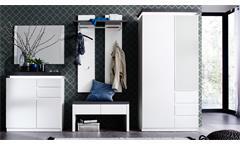 Garderobe Set ATLANTA in matt weiß und Betonoptik inklusive LED