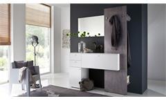 Garderobe ZARA 2 in weiß Melamin und Betonoptik