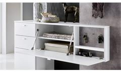 Garderobe Zara 2 in weiß Melamin und Betonoptik Flurmöbel  Kleiderhaken