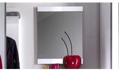 Garderobenspiegel TRENTO Spiegel in weiß Hochglanz