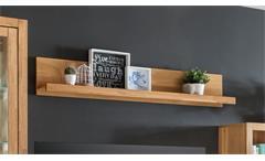 Wandboard Fenja Wandregal Hängeboard in Wildeiche massiv geölt mit 1 Ablage
