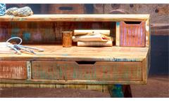 Schreibtisch Malmö Bürotisch Recycle Massivholz used color Look lackiert 140 cm