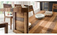 Essgruppe Wayland Mango Holz massiv Esstisch 200x100 und 8 Stühle