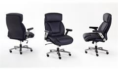 Chefsessel REAL COMFORT RC3 Bürostuhl schwarz verstellbar