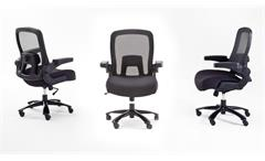 Chefsessel REAL COMFORT RC6 Bürostuhl schwarz mit Mesh