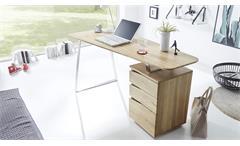Schreibtisch TORI Computertisch mit Container in Asteiche 150