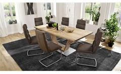 Esstisch Greta Tisch geteilt in Balkeneiche massiv Esszimmertisch 180x90 cm