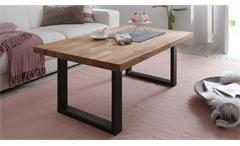 Couchtisch Artho Beistelltisch Wohnzimmer Tisch in Eiche keilverzinkt 110x70 cm