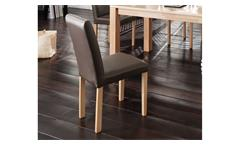 Stuhl Fix 2er-Set Esszimmerstuhl Küchenstuhl cappuccino Buche Massivholz natur